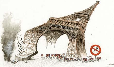 Борьба с курением в Париже