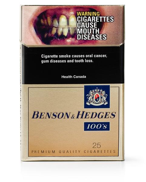 Сигареты «Бенсон и Хеджес». Канада, 2006