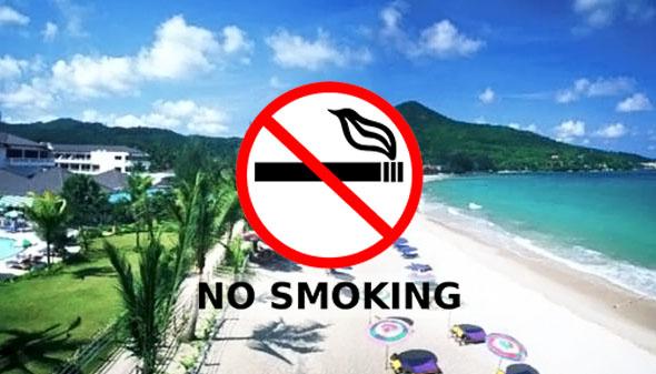 Курение на пляжах Таиланда
