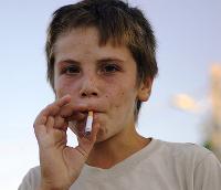Курящий ребёнок