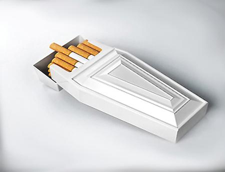 Курение длинных сигарет